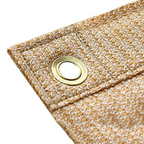 YXX-Filet d'ombrage 90% Sunblock toile d'ombrage avec le cuivre, Clôture Œillets Beige Privacy Screen, extérieur Commercial Backyard Shades Pare-brise Netting (Size : 3.5mx3m)
