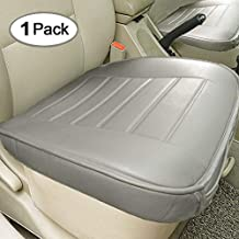 Big Ant Car Seat Cover, Edge Wrapping Car Front Seat Cover Pad Mat for Auto Supplies Office Chair with PU Leather (Gray)