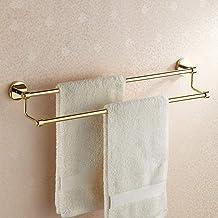 Yxsd Handdoekhouder badkamer hanger goud handdoekhouder goud beklede badstandaard