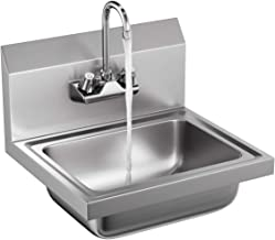 Giantex Stainless Steel Hand Wash Sink NSF Certificated Wall Mount Commercial Kitchen Heavy Duty with Faucet
