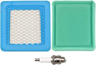 BS-491588S BS-491588 Air Filter + Pre Cleaner Spark Plug for MTD Troy-Bilt TB110 TB130 TB210 TB230 TB270ES TB280ES TB320 TB330 TB370 TB380ES TB449E TB466 TB566 TB672 TB866XP Push Lawn Mower Parts