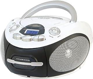 Majestic AH 2387R MP3 USB - Boom Box portátil con Reproductor de CD/MP3, Entrada USB, Grabador de cajón, Toma de Auricular...