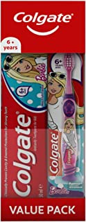 Colgate Kids 6+ Barbie Oral Care Toothpaste, 50 ml + Toothbrush Back to School Kids Oral Care Set