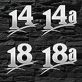 Hausnummer Edelstahl gebürstet Sonderanfertigung in groß (2-stellig / 20cm Ziffernhöhe) 20cm 30cm - auch mit Buchstabe-n erhältlich - Original ALEZZIO DESIGN - Rostfrei -...