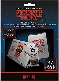Pack of 37 Genuine Stranger Things Tech Stickers Gadget Decals