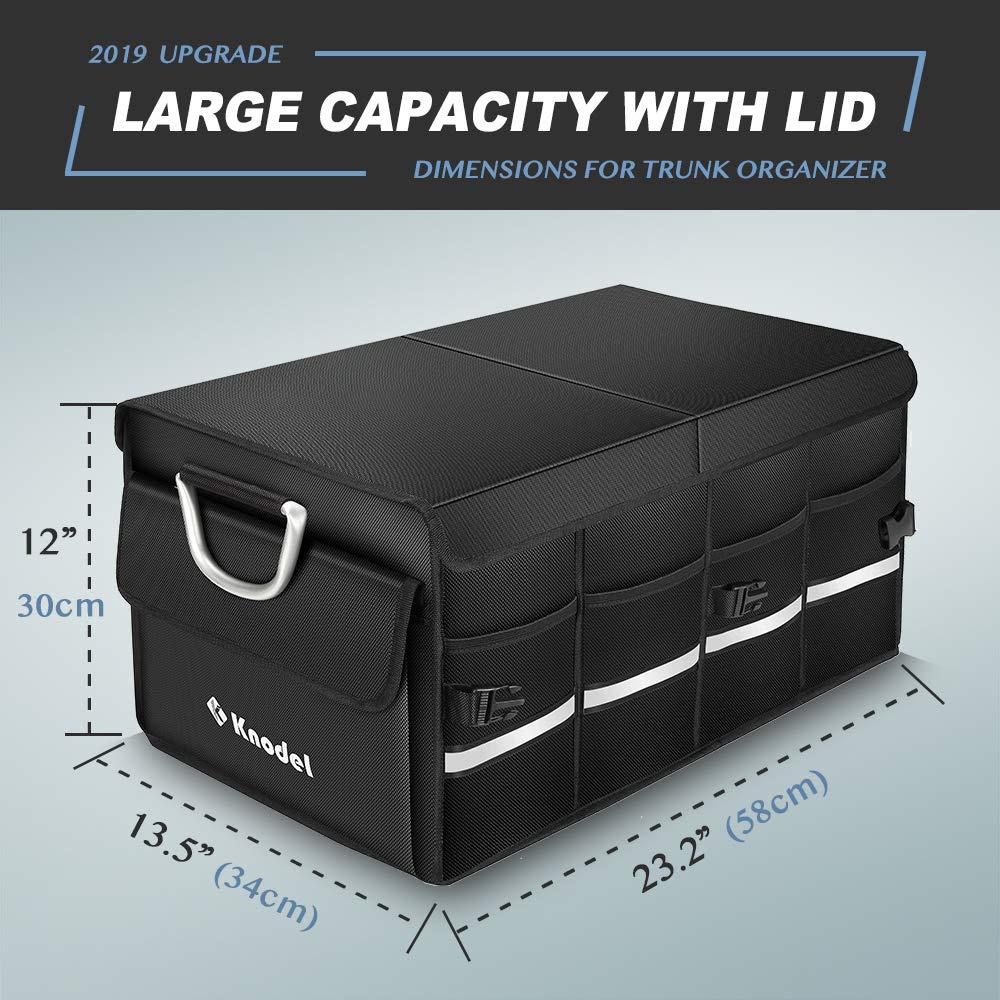 cubo de almacenamiento port/átil multiusos y transportador para coche Knodel cami/ón o furgoneta Organizador resistente para maletero de coche con bolsa t/érmica de aislamiento premium SUV