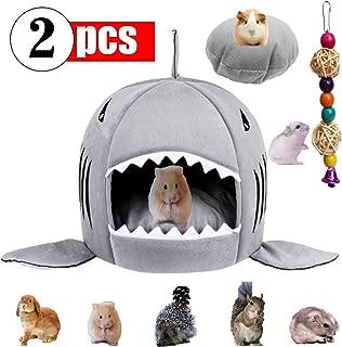 GABraden Small Pet Animals Bed,Cotton Warm Nest Mini House,for Dutch Pig Hamster Hedgehog Rat Chinchilla Guinea Habitat,Washable Shark Pet House Cave Bed
