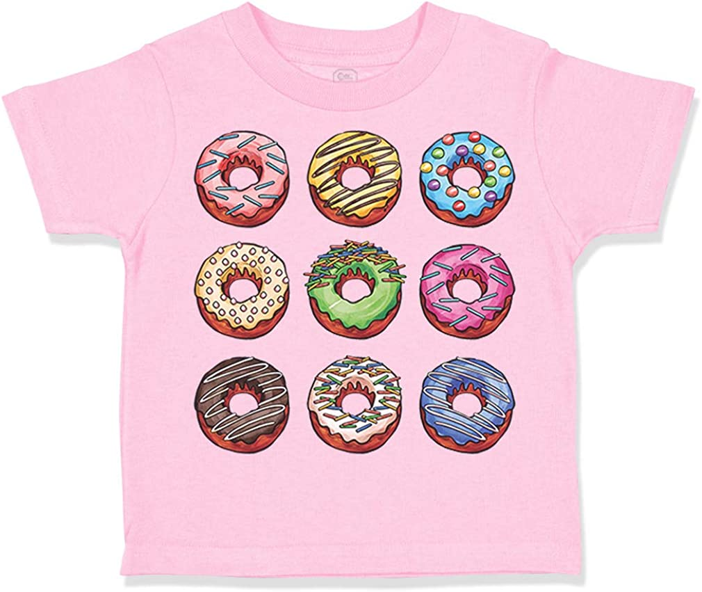 Custom Toddler T-Shirt Donuts Funny [Alternative dealer] Clot Now free shipping Boy Humor Girl Cotton