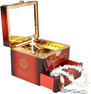 Coherny Creative Music Box Birthday Gift for Girl Ballerina Jewelry Box Mirror Play Compact Storage Box Birthday for Kids ...
