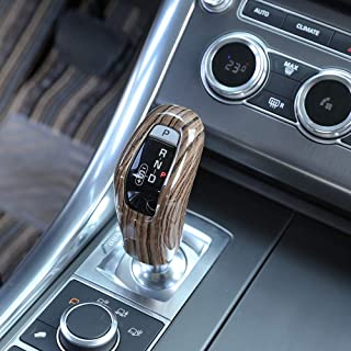 TongSheng Sands Wood Grain Car Gear Shift Head Decoration Cover Trim 1pc Land Rover Range Rover Sport 2014-2017