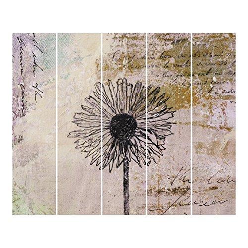 Bilderwelten Schiebegardinen Shabby Pusteblume 5 Flächenvorhänge Ohne Aufhängung 5X 250x60cm