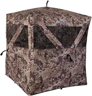 Ameristep Care Taker Kick Out 2 Person Ground Hunting Concealment Blind with ShadowGuard, Kryptek Camo
