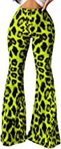 KLGDA Ladies Sexy Leopard Print Flared Pants Trousers Wide Leg Casual Pants Loose Casual Stretch Tights