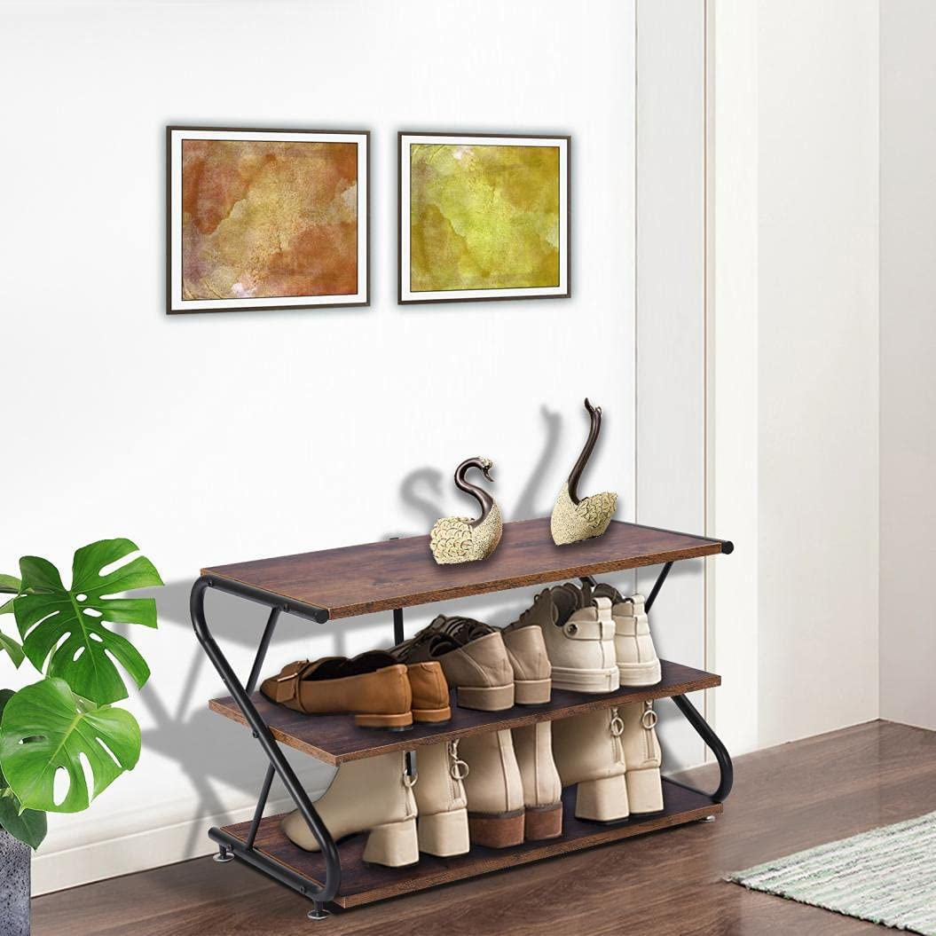 Shoe Very popular Bench Ranking TOP19 3-Tier Rack 25.8 Storage Long Shelves Inches