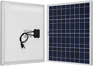 Renogy 50W 12V Polycrystalline Solar Panel High Efficiency Module Off Grid PV Power for Battery Charging, Boat, 50 Watts, Caravan, RV Applications