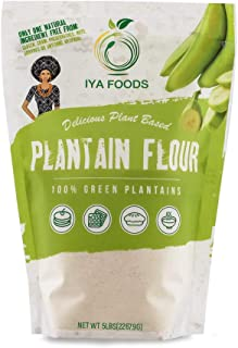 Iya Foods Premium Plantain Flour 5 Pound Bag, Gluten-Free, Kosher Certified, Paleo