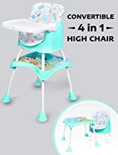 R for Rabbit Cherry Berry Grand 4 in 1 Convertible Feeding Table high Chair for Baby Kids Toddlers from 6 Months to 7 Years Study Table & Booster Chair(Lake Green)