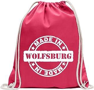 KIWISTAR - Made in Wolfsburg Turnbeutel Fun Rucksack Sport Beutel Gymsack Baumwolle mit Ziehgurt