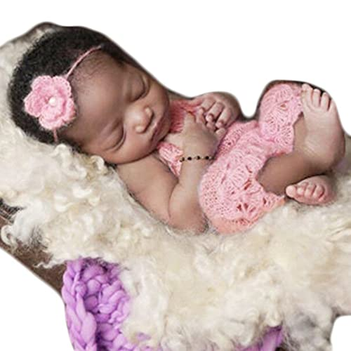 fce3d646f Baby Photography Props Boy Girl Photo Shoot Outfits Newborn Crochet Costume Infant  Knitted Clothes Mohair Headdress