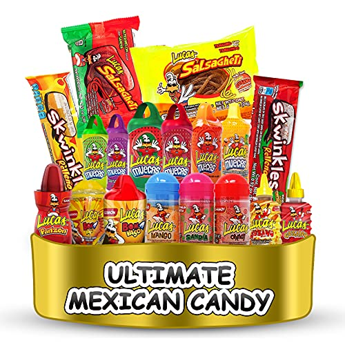 Lucas Ultimate Candy Assortment Premium Mexican Candy (18 Count)...