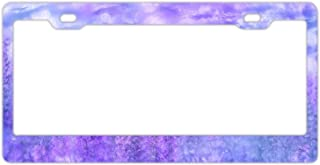 KSLIDS Colorful Ddog Standard Alumina License Plate Frame