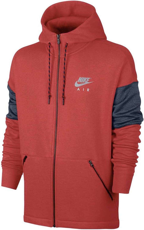 Nike AIR Hoodie Man Hooded Sweatshirt in red Fabric 861612-657