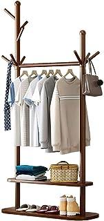 XQYPYL Porte-Manteau à 2 Niveaux Portant à Vêtements sur Pied Meuble D'entrée avec Etagere Rangement Vetements Penderie av...