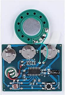 Zopsc Sound Recordable Module 27s Recordable Music Sound Voice Module Chip 0.5W with Button Battery DIY Module Application to The Production of Creative Gifts(Light Version)