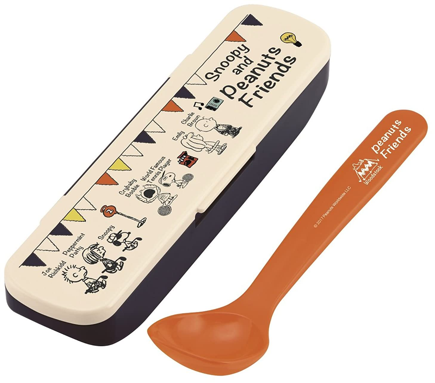 リード徴収控えめなスケーター カトラリー スープスプーン ケースセット スヌーピー ともだち PEANUTS 日本製 16cm CSOP1