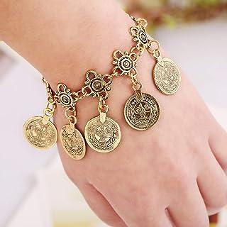 OETY Boho coin bracelet Gold silver charm bracelet bohemian statement women jewelry|jewelry simple|jewelry bracelet |