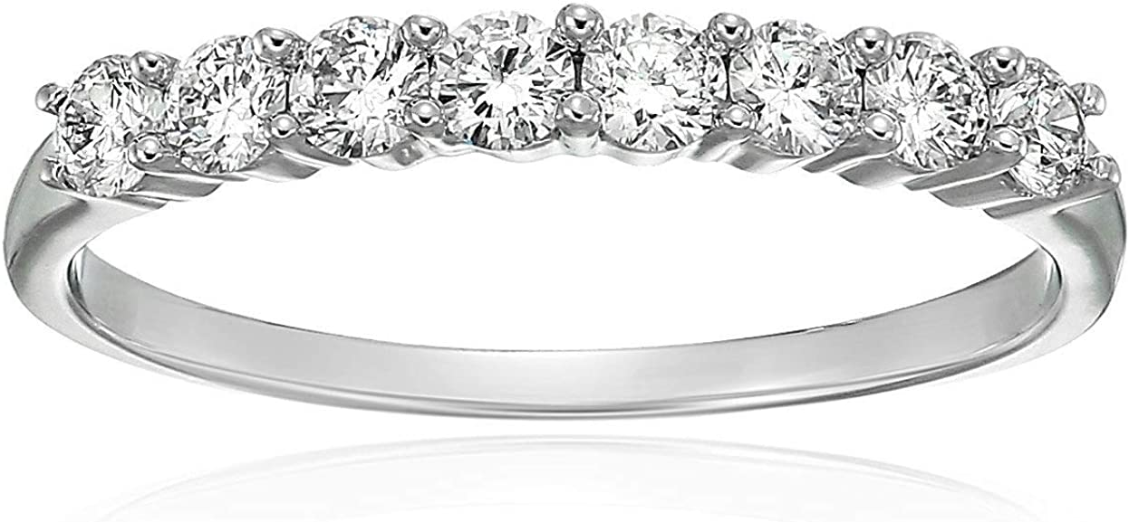 Vir Jewels 1 2 cttw Diamond Wedding 14K Import 8 Band in Sto White Excellent Gold