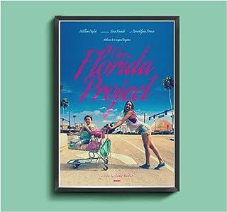 フロリダプロジェクト映画ポスターキャンバスプリントウォールアート絵画ポスターファミリールームの装飾ユニークなアートワーク-60x80cmフレームなし