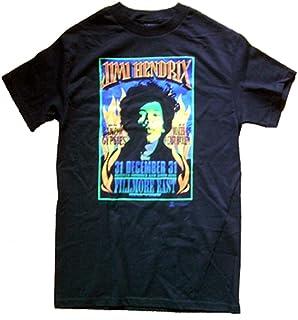 公式/オフィシャル JimiHendrixジミヘンドリックス/FLAMES Tシャツ S ブラック