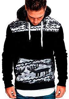 Hoodies for Men, Pervobs Men's Long Sleeve Autumn Solid Pocket Loose Casual Sweatshirt Hoodies Tracksuits