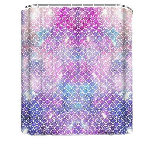 WFLJ 3D digitale print roze douchegordijnen anti-schimmel, complete grootte polyester stof waterdicht badkamer gordijnen met 12 haken, geschikt voor thuis hotel