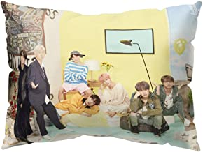 Hosston Kpop BTS Pillowcase, Bangtan Boys Sixth Edition Family Commemorative Photo Pillow Cases 11.8 x 19.7 inch Decorative Throw Pillow Covers Cushion Cases Best Gift for A.R.M.Y(Style 04)