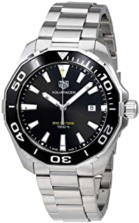 Tag Heuer Aquaracer 300M Quartz Black Dial Mens Watch WAY101A.BA0746