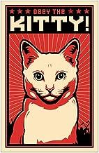 CafePress Obey The Kitty! White Cat Mini Poster Print