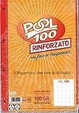 BLOCCO FOGLI A BUCHI RICAMBIO MAXI RINFORZATI QUADRETTI 1 CM. 100 GR.