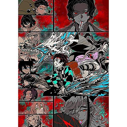 Puzzle 1000 Piezas Pintura Arte Demon Killer Imagen Anime Pintura Decorativa Puzzle 1000 Piezas Adultos Gran Ocio vacacional, Juegos interactivos familiares50x75cm(20x30inch)