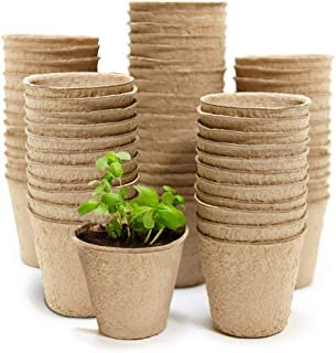 """100 Seed Planting Pots, Eco Friendly Organic 3"""" Peat Pots, Biodegradable Seed Starter for Vegetable Seeds, Herb Garden, Pe..."""