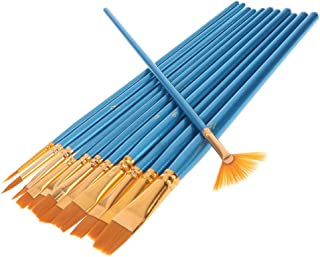 Paint Brush - 12Pcs Nylon Hair Artist Paint Brush Watercolor Fine Point Tip Pen Professional - WX-YIYASURFANTET