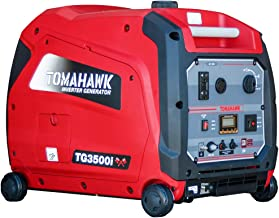 Tomahawk 3500 Watt Inverter Generator Super Quiet Portable Power for Residential Home Use 120V 220V and USB Outlet Panel with Wheels