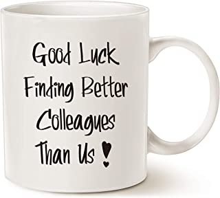 MAUAG Good Luck Finding Better Colleagues Than Us Coffee Mug for Coworkers Leaving Gifts, Funny Leaving, Farewell, New Jo...