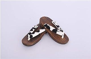 ZCPCS Madera de Tung Japonesa clásica, Zapatillas de Madera japonesas (Color : White, Size : 37)