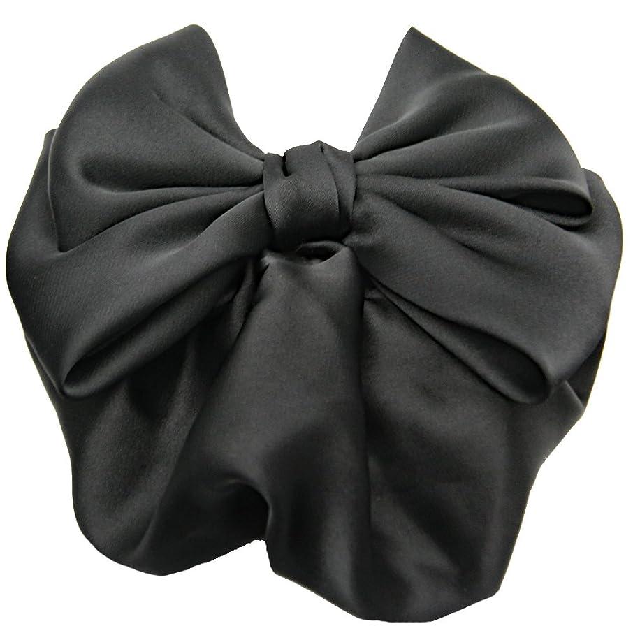 定期的に相関するアーカイブGLOBAL BOX リボン バレッタ ネット付き まとめ髪 黒