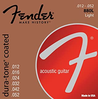 Best Fender 60L 0730880303 Acoustic Guitar Coated Ball End Strings, 12-52 Review