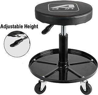 Aain LT012C Adjustable Garage Roller Seat, Pneumatic Mechanic Rolling Creeper Seat, Swivel Rolling Stool, Rolling Seat wit...