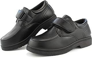 Hawkwell Boy's School Uniform Oxford Hoop-and-Loop Dress Shoes(Little Kid/Big Kid)