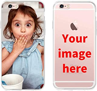 Custom Phone Case for iPhone 6/6S, Personalized Photo Phone Case, Soft Protective TPU Bumper, Customized Cover Add Image Painted Print Text Logo Picture